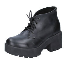 scarpe donna J.K. ACID 40 EU tronchetti stivaletti nero pelle BX752-40
