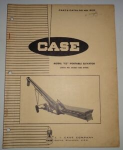 Case Model E2 Portable Elevator Parts Catalog Manual book Original hay corn oats