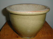 Olive Brown Green Pottery Stoneware Jardiniere/Planter/Flower Pot -Heavy & Large