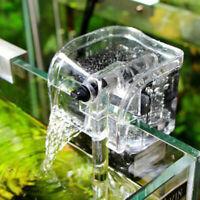 Mini Aquarium Fish Tank Waterfall Hang On External Oxygen Pump Water Filter USI