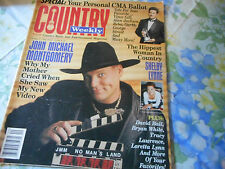 John Michael Montgomery Covers Country Weekly Magazine October 1995 Shania Twain
