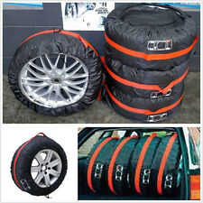 "4 X Car Seasonal Spare 16""-22"" Tyre Tire Protection Pad Cover Storage Carry Bags"