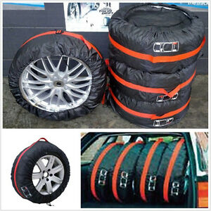 "4 X Car Seasonal Spare 16""-22"" Tyre Tire Protection Pad Cover Storage Carry Bag"