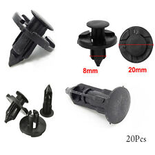 20PC Useful Auto Car SUV Plastic Rivet Fastener Mud Flaps Fender Push Clip Black