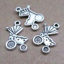 20pc Tibetan Silver Pram Baby Carriage Charms Pendant Jewellery Making B534P