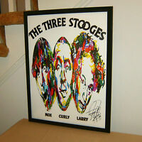 The Three Stooges, Moe, Larry, Curly, Slapstick, Comedy, 18x24 POSTER w/COA