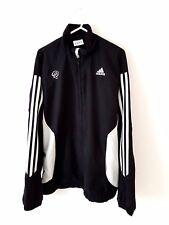 Derby County Chaqueta Abrigo. pequeño Adultos 34/36. Adidas Fútbol Negro Manga Larga