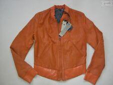 Levi's® Damen Jacke Lederjacke, Gr. M, orange, NEU !! Echt Leder, Einzelstück !!