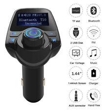 Transmisor FM Bluetooth Coche Manos Libres Kit De Adaptador De Radio Reproductor de MP3 Usb Cargador