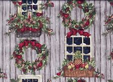 Christmas Window Wreath Country curtain valance