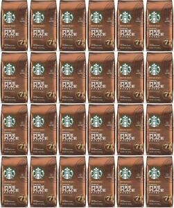 24 PACK Starbucks Medium Pike Place Roast Coffee Ground 12 oz Best Before 2/2021