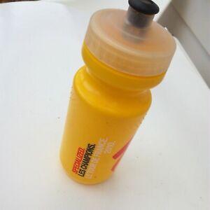 retro Specialized Les Champions 2010 Tour De France Logo Water Bottle yellow