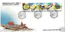 Malaysia (1988) - Marine Life Series I  Nudibranchs FDC