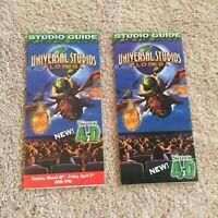 Vintage Universal Studios Florida Park Brochure from 2003 & 2004 Shrek 4D Mint