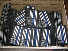 LOT of 4 Patriotic American Flag Thin Blue Line Police Patches USA