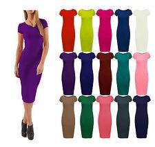 Womens Short Sleeve Midi Dress Bodycon Cara Cap sleeve Midi Dress Maxi Plus Size