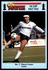 Match FA Cup Fact File 1986 - Steve Foster (Luton Town) No. 7