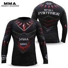 Mens Rash Guard Compression Tops Shirt MMA Base Layer Grappling UFC Boxing