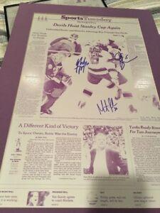 NJ DEVILS 2003 Stanley Cup Press Plate Signed Brodeur,Jamie Langenbrunner,Rupp