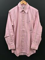 LACOSTE Men's Long Sleeve Striped Shirt sz S ( EUR 39 ) Red/Pink