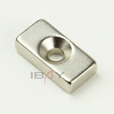 N35 Strong Magnet 20mm x10mm x 6mm Hole 3mm Rare Earth Neodymium Magnets