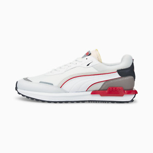 Puma City Rider Ripstop Mens Trainers White and Red