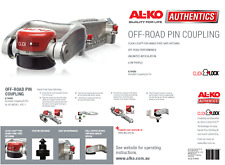 ALKO OFF ROAD PIN COUPLING 3.5 TONNE ELECTRIC GALV HITCH 619400 OFFROAD TRAILER