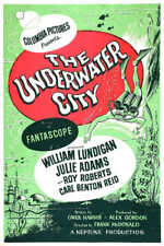 1962 THE UNDERWATER CITY VINTAGE SCI-FI MOVIE POSTER PRINT STYLE B 54x36 BIG