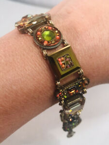 Gorgeous FIREFLY La Dolce Vita Crystal Glass Mosaic Swarovski Bracelet