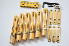One set(6 string) single Headless Bass Bridge In Gold