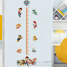 Paw Patrol Height Measurement Chart Kids Wall Art Sticker Vinyl Decal Decor Gift