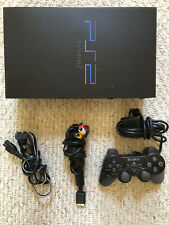 Sony Playstation 2 PS2 FAT Black Console Bundle W/ Controller & Cords-Tested