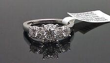 14k Ladies White Gold Past Present Future 0.75CT/0.33R Diamond Ring/Engagement