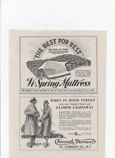 1930 Ads for DURWARD RAINWEAR, VI-SPRING MATTRESS, MAZAWATTEE TEA & TURNER HATS