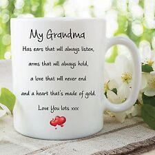 Grandma Mug Love You Lots Heart Of Gold Birthday Gift Mothers Day Cup WSDMUG584