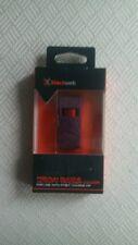 Black Web Premium Silocione cover for activity tracker, in deep purple.