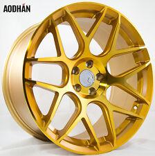 18X9 +30 AodHan LS002 5X100 Gold Wheels Fits TC FR-S GT86 JETTA GOLF GTI BRZ WRX