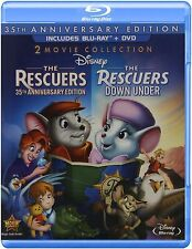 Blu Ray THE RESCUERS and THE RESCUERS DOWN UNDER. UK compatible. New sealed.
