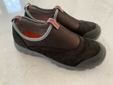 Lands End Women's All Weather Suede Moc Shoes 86168 Brown Size 7W Slip On Casual