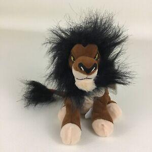 "Disney Store Lion King Scar Mini Bean Bag Plush 8"" Stuffed Toy Vintage 90s w Tag"