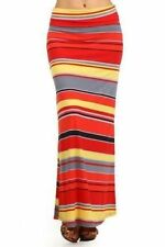Peasant, Boho Striped Long Skirts for Women
