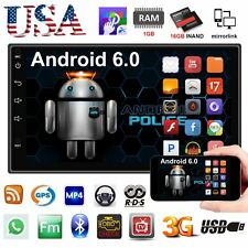 "Quad Core Android 6.0 3G WIFI 7"" Double 2DIN Car Radio Stereo MP5 Player GPS USA"