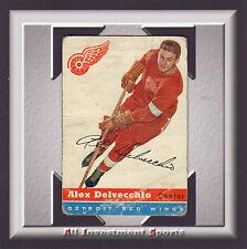 1954 Topps ALEX DELVECCHIO #39 POOR *gorgeous hockey card for your set* SD