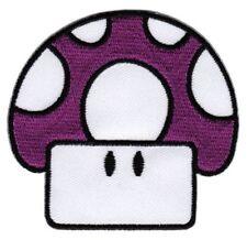 bf93 Pilz Lila Comic Mushroom Aufnäher Kinder Bügelbild Patch 7,0 x 7,5 cm