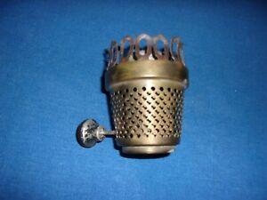 ANTIQUE UNUSUAL BRASS KEROSENE OIL LAMP LIGHT BURNER PART