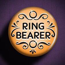 RING BEARER Pin Badge Button - Wedding Outfit Dress Kids Children Gift Planning