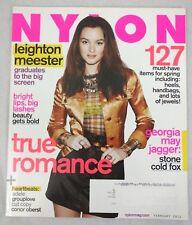 NYLON Magazine Leighton Meester Feb 2011 Georgia May Jagger Adele Teresa Palmer