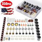 350pcs Sanding Drum Kit For Nail Drill Bits Dremel Accessories Rotary Tool + Box