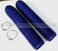 Honda CR125 CR250 CR500 XR400 XR650L Blue Fork Gaiters Fork Boots 43mm x 380mm