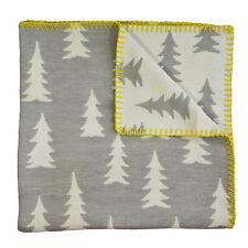 Scandinavian Swedish Organic cotton kids Baby Crib Cot Pram Blanket - Gran Grey